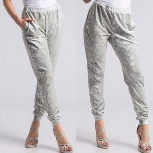 NWT Comfortable Joggers In A Light Sage Color